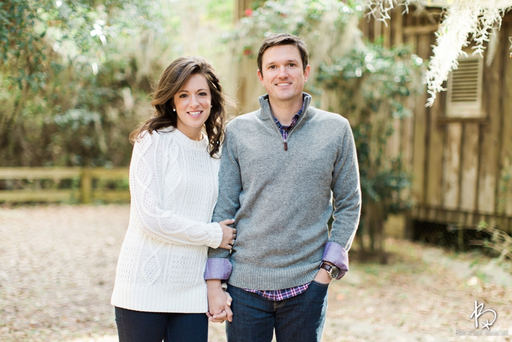Jacksonville Wedding Photographers, Brooke Images, Engagement Session, Trees, Moss, Light