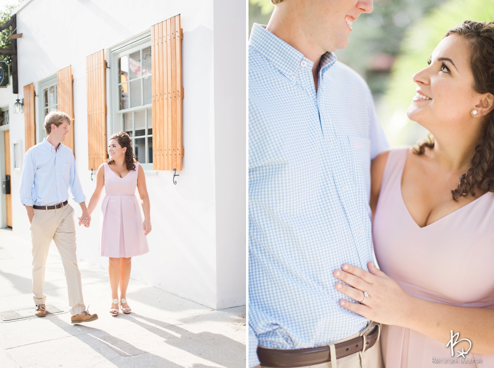 St. Augustine Wedding Photographers, Brooke Images, Engagement Session, Beach Session, Downtown St. Augustine