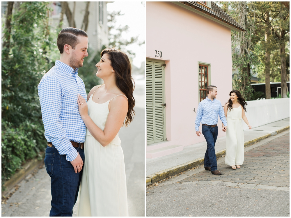 st. augustine wedding photographers, brooke images, downtown photo shoot, Rachel and Dan